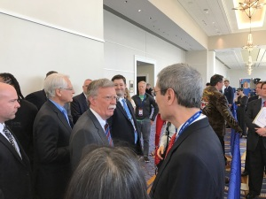 Friends and former colleagues, Amb. John Bolton and Gordon Chang at CPAC 2017